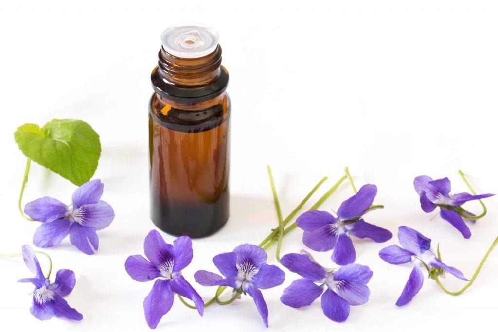 violet for skin care