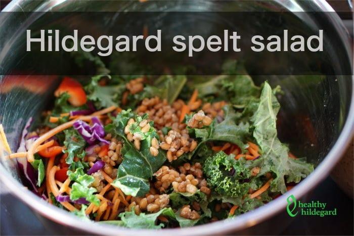 spelt salad kale