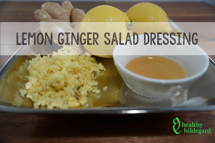 lemon ginger salad dressing