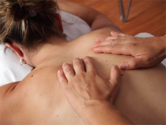 A relaxing massage will help mitigate discomfort.