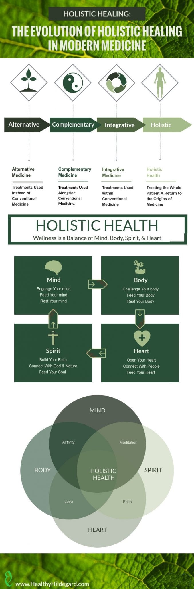 Evolution of Holistic Health and Steps for Holistic Healing Infographic