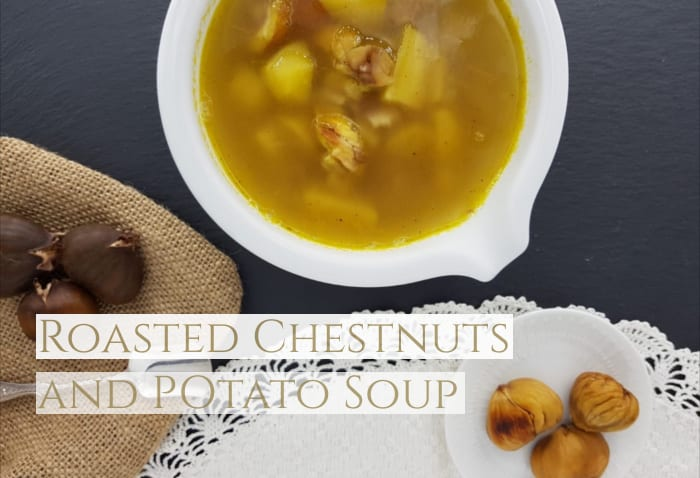 Chestnuts and potato soup