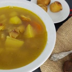 Roasted Chestnut and Potato Soup Recipe