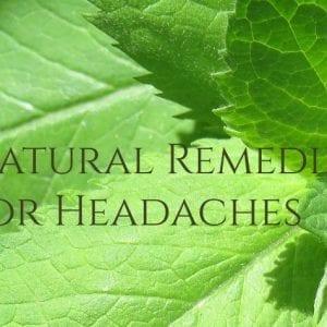 Headache Natural Remedies