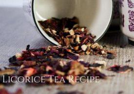 Licorice tea recipe