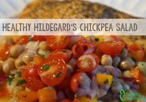 healthy chickpea salad